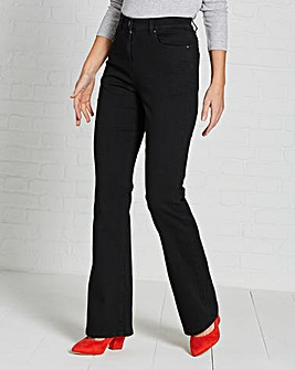 Kim High Waist Bootcut Jeans Short