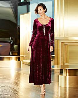 Joanna Hope Crushed Velour Maxi Dress