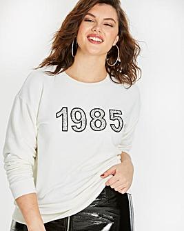 1985 Glitter Encrusted Sweatshirt