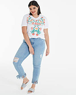 Raised Floral Print T-Shirt