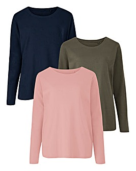 Pack of 3 Long Sleeve Jersey Tops