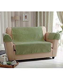 Plain Chenille Armchair Cover