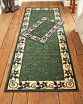 Leaf Border Design Runner and Doormat