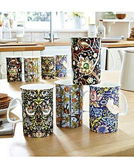 William Morris China Mug Set 8
