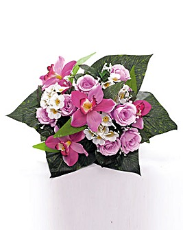 Graveside Bouquet Rose and Orchid Mix