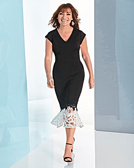 Lorraine Kelly Lace Peplum Dress