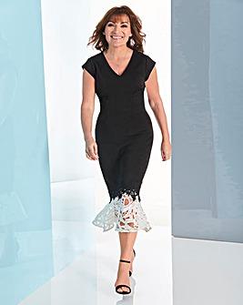 Lorraine Kelly Lace Peplum Dress