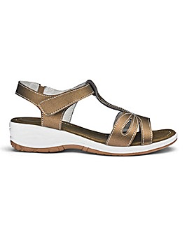 Heavenly Soles Leather Sandals E Fit