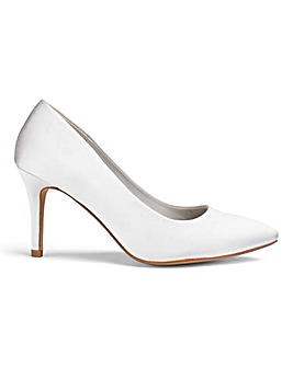Ivory Satin Court Shoes D Fit