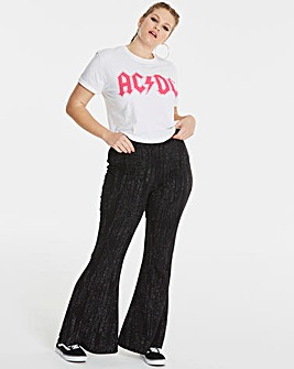 Glitter Kick Flare Trousers