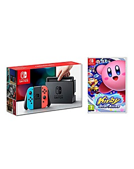 Nintendo Switch Neon + Kirby Star Allies