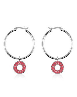 Radley Enamel Hoop Charm Earrings