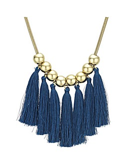 Orb Tassel Statement Necklace