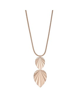 Leaf Drop Long Necklace