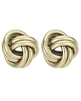 Oversized Knot Stud Earring