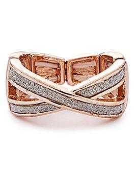 Glitter Twist Ring