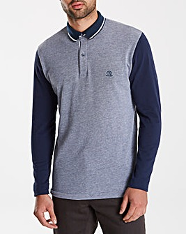Black Label Colour Block Polo Long