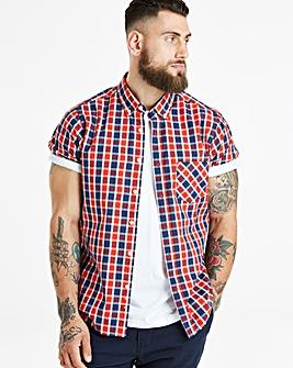 Jacamo Harper S/S Check Shirt Regular
