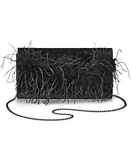 Marabou Feather Clutch Bag