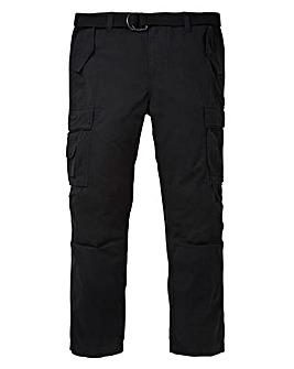 Jacamo Black Ambrose Cargo Pant 29in