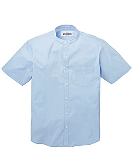 Jacamo Stretch S/S Grandad Shirt Long