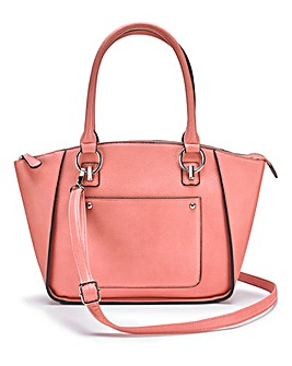 Blush Emily Winged Tote Bag
