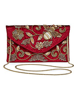 Glamorous Embroidered Clutch Bag