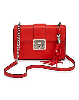 Lock Detail Shoulder Bag
