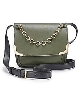 Chain Detail Saddle Bag