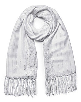 Joanna Hope Lurex Pashmina With Sequins