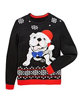 Label J Bulldog Xmas Knit Long