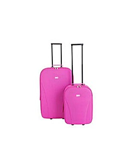 Go Explore 2 piece Soft Luggage Set Pink