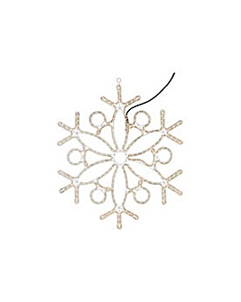 Set of 3 Snowflake Light Decorations.