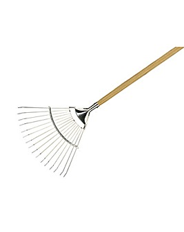 Ss Long Handled Lawn / Leaf Rake