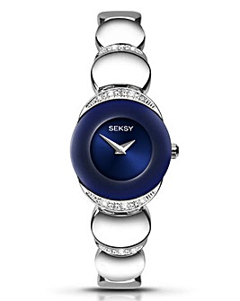 Seksy Ladies Blue Dial Bracelet Watch