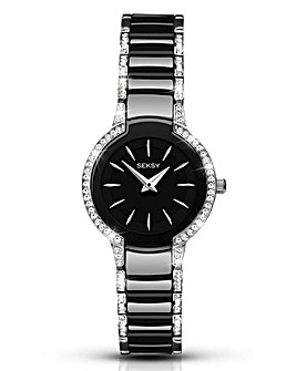Seksy Ladies Black Ceramic Watch