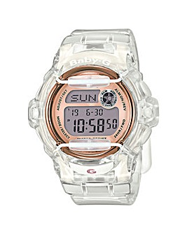 Baby-G Ladies Rose Tone Digital Watch