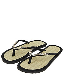 Accessorize Chevron  Seagrass Flip Flops