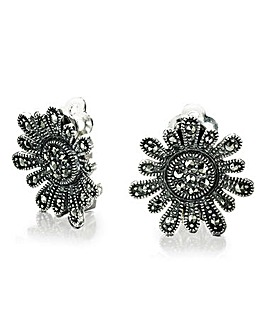 Marcasite Daisy Earrings