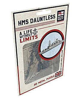 MOD Metal Puzzle HMS Dauntless