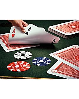 Giant Cards Poker Set