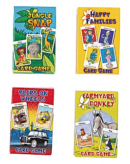 Childrens Card Games Set of 4