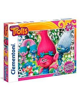 Trolls 104pc Glitter Puzzle