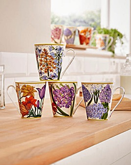 Botanical Mug Set of 4
