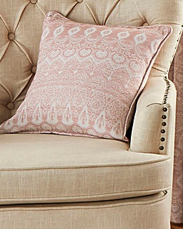 Jacquard Easy Care Filled Cushion