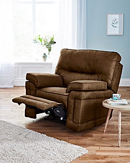Faux Suede Luxury Manual Recliner Chair