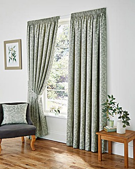 Cotton Rich Woven Damask Curtains