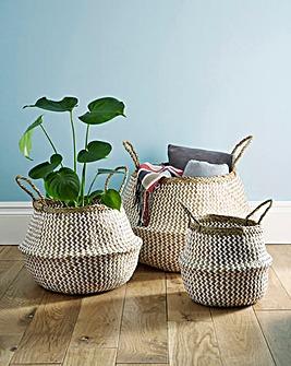 Seagrass Fold Away Storage Basket
