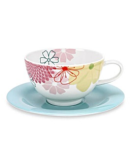 Crazy Daisy 4 Breakfast Cup & Saucer