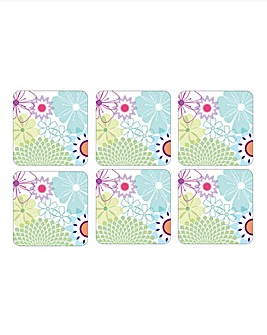 Crazy Daisy Set of 6 Coasters